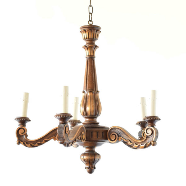 Wood chandelier from Belgium