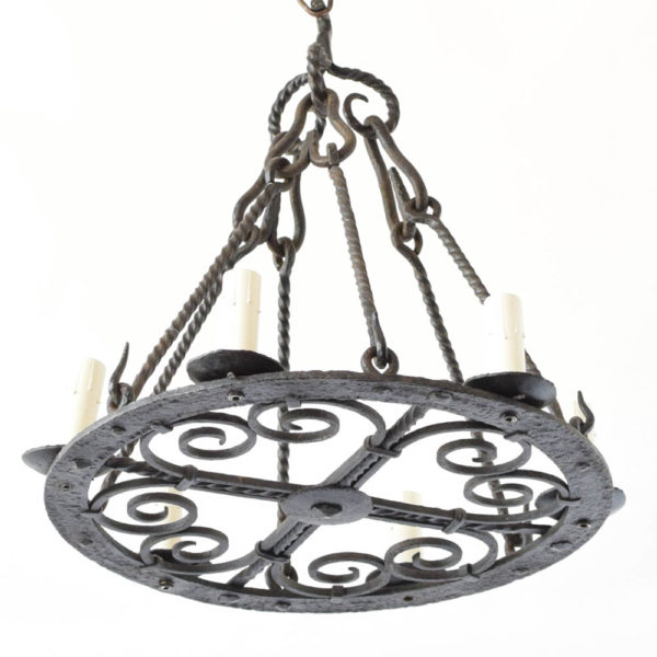 Antique iron Chandelier from Belgium