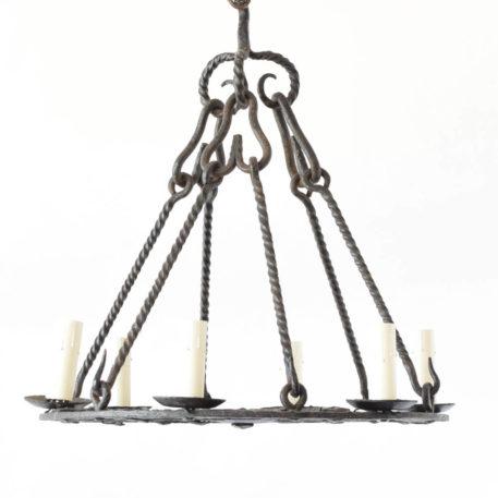 Antique iron Chandelier from Belgium