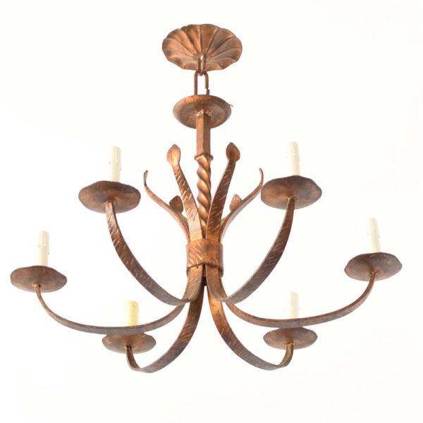 Gold iron Chandelier from Spain