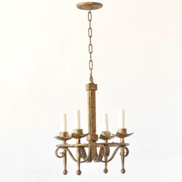 Gilded iron Chandelier from Spain