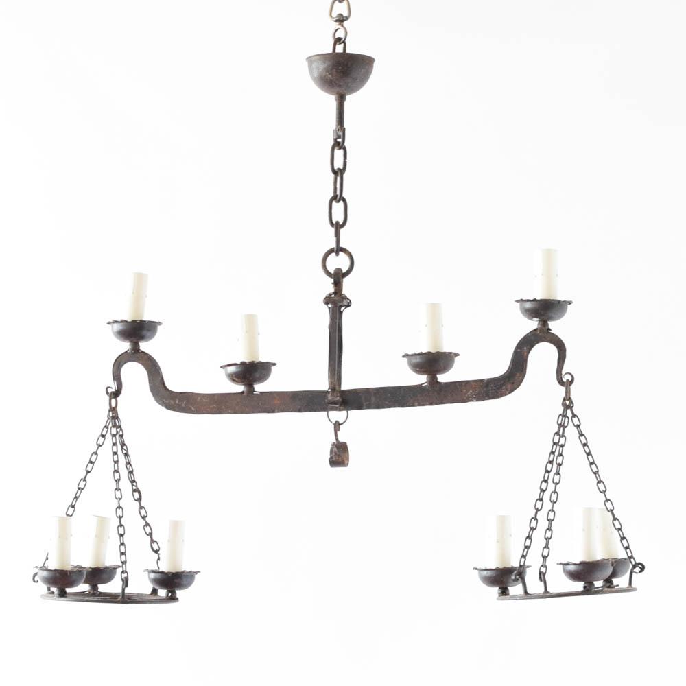 Iron balance chandelier