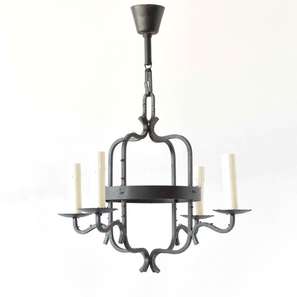 Simple french iron chandelier the big chandelier simple iron chandelier from france arubaitofo Choice Image