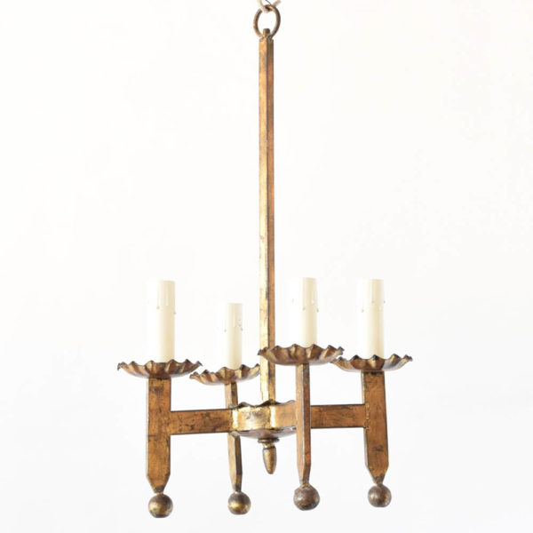 Simple Gold Chandelier from Spain