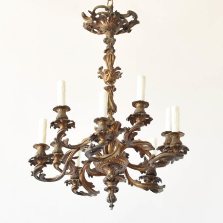 Louis XV bronze dore chandelier from France
