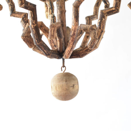 Twig Chandelier in the form of a French cage from France