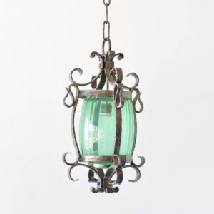 Hand forged iron lanter