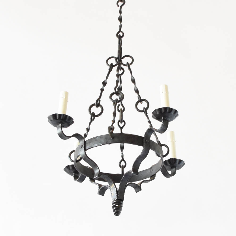 Iron Chandelier W Pig Tail Base The Big