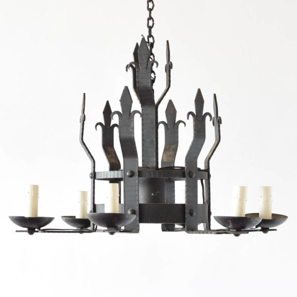 Black Iron Chandelier with a downlight from Europe