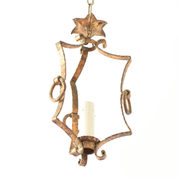 Small gilded hall light from Spain