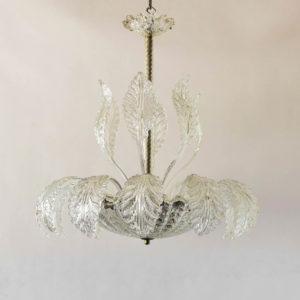 HAnd blown Murano bowl form chandelier