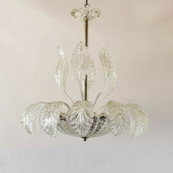 HAnd blown Murano bowl form chandelier