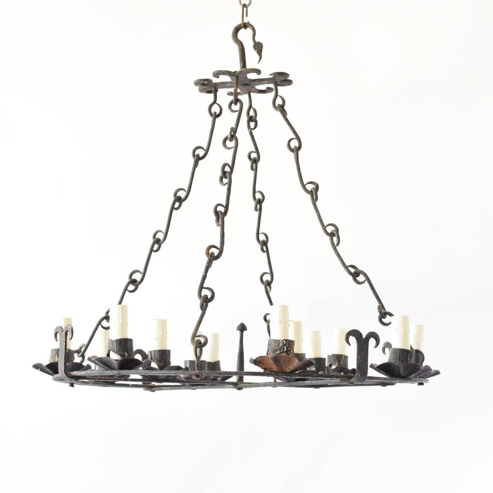 Large forged spanish chandelier the big chandelier aloadofball Images