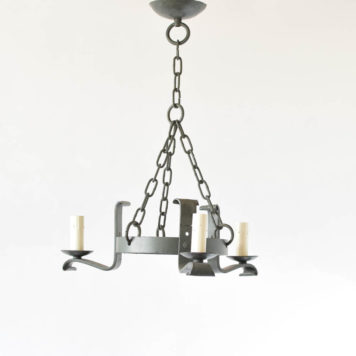 Simple Iron Ring Chandeleir from Belgium