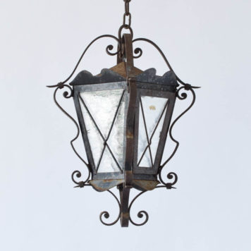 Country Rustic Iron Lantern