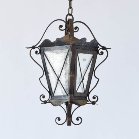 Country Rustic Iron Lantern