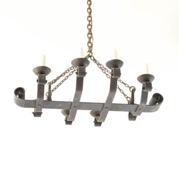 Iron Chandelier made in France with an elongfated form