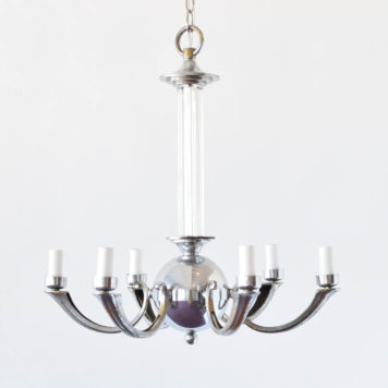 Vintage Art Deco Chandelier from France