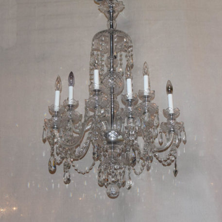 Vintage two Tiered Crystal chandelier from the Czech Republic