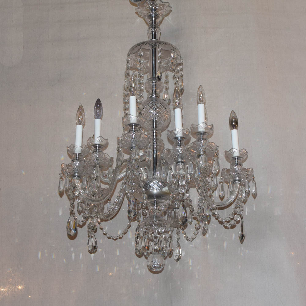Two tier czech crystal chandelier the big chandelier vintage two tiered crystal chandelier from the czech republic aloadofball Image collections