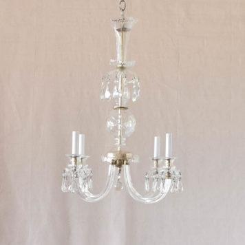 Antique Czech crystal light fixture