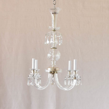 Antique Czech crystal light fixture