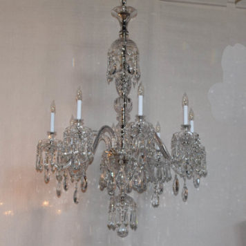 Large Vintage Czech Crystal Chandelier from Matinez y Orts