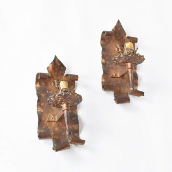 Gilded Sconces from Catalonia with heavy back plates