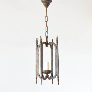 Iron Lantern from Belgium with Rustic Design