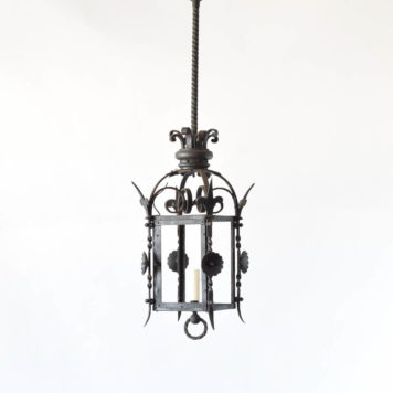 Antique French gas lantern converted to electrical