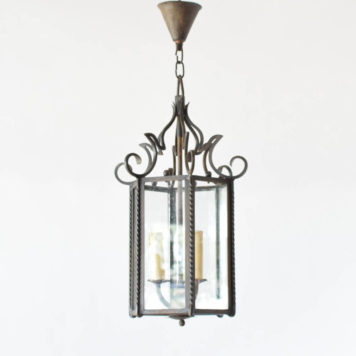 Vintage Iron and Glass Lantern