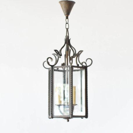 Vintage Iron and Glass Lantern