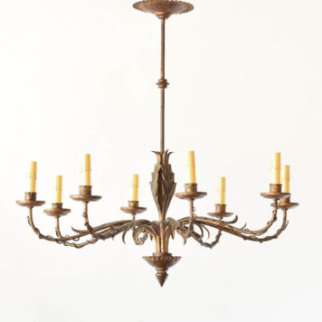 Gilded Spanish Chandelier with leaves