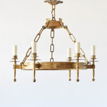 Vintage Spanish Chandelier with original gilded finish
