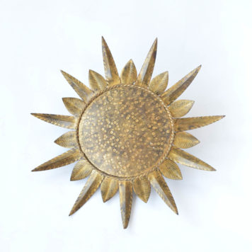 Antique Spanish sunburst light