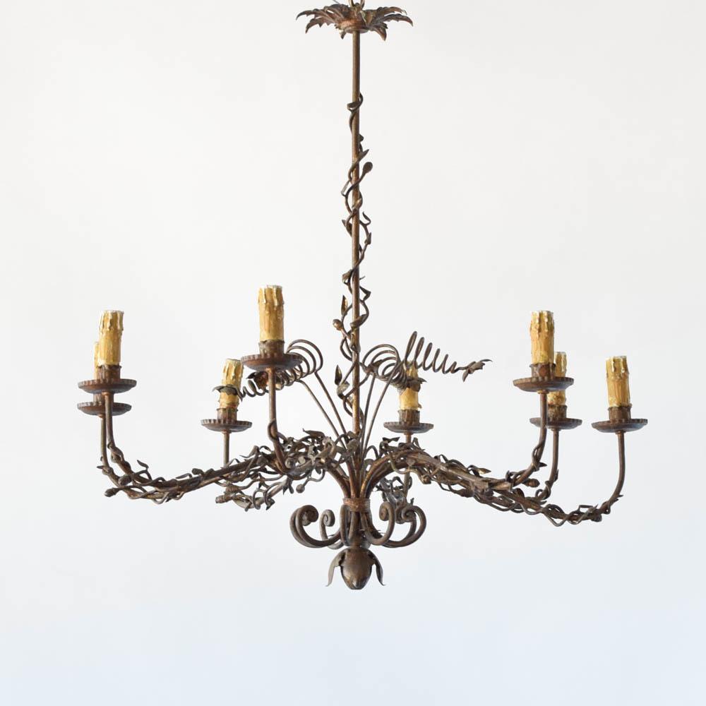 Unusual organic form vintage Spanish chandelier - Organic Spanish Chandelier - The Big Chandelier