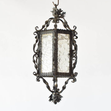 Vintage Spanish lantern with original glass