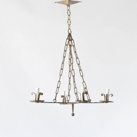 Spanish chandelier with simple cross form