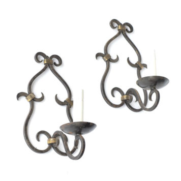 Vintage Iron Sconces from France