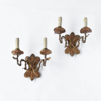 Gilded Sconces from Spain with organic forms