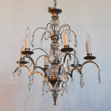 Vintage French chandelier with deco design