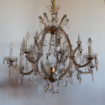 Large Balloon Form Italian Maria Theresa Chandelier