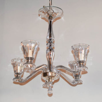 Vintage Italian Chandelier with simple glass arms