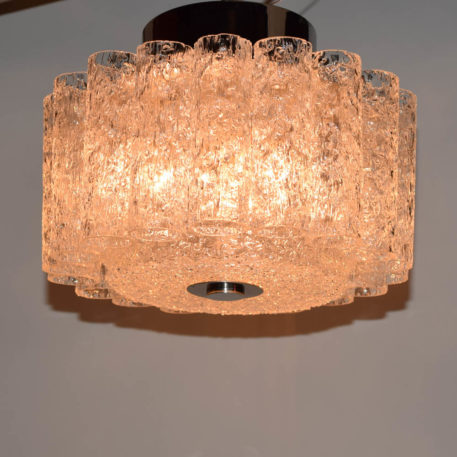 Vintage Mid Century Italian Glass Flush Mount