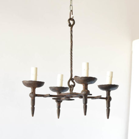 Antique iron chandeliers from Vic France