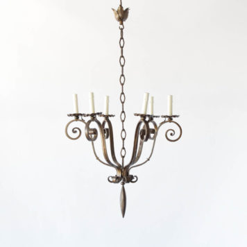 Iron Chandelier with 6 arms