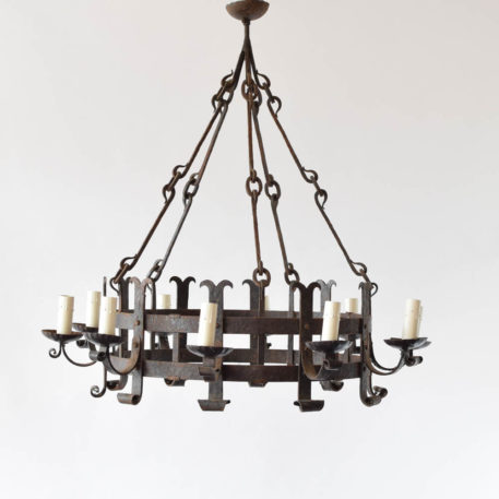 10 light rustic iron chandelier