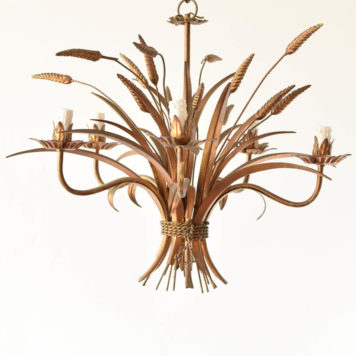 Italian wheat sheaf chandelier with 5 lights