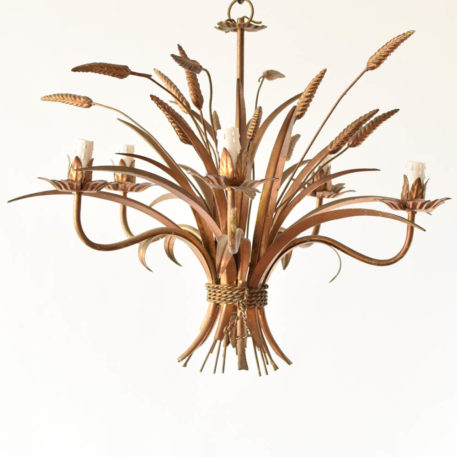 Italian wheat sheaf chandelier with 5 lights