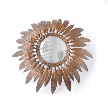 Large sun flush mount with glass lens